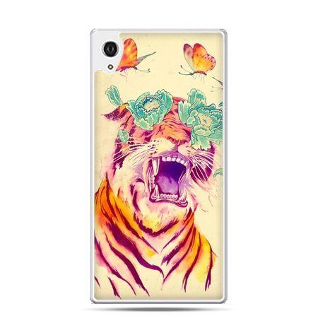 Etui na telefon Sony Xperia XA - egzotyczny tygrys