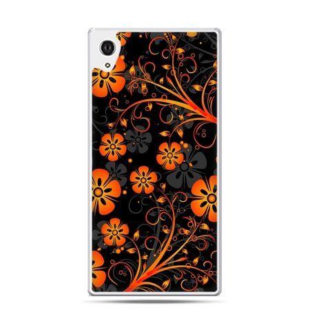 Etui na telefon Sony Xperia XA - nocne kwiaty