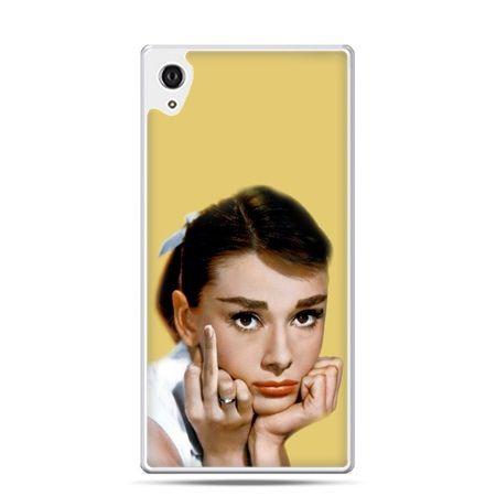 Etui na telefon Sony Xperia XA - Audrey Hepburn Fuck You