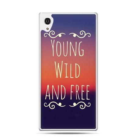 Etui na telefon Sony Xperia XA - Young wild and free