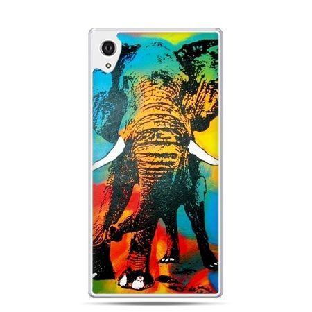Etui na telefon Sony Xperia XA - kolorowy słoń