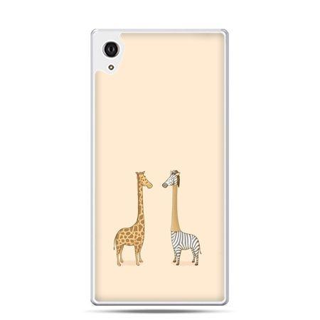 Etui na telefon Sony Xperia XA - żyrafy