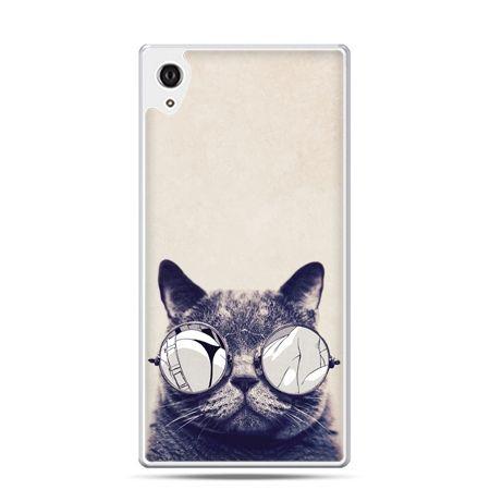 Etui na telefon Sony Xperia XA - kot w okularach