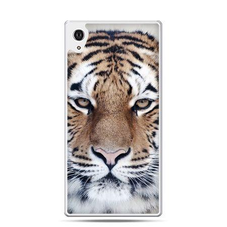 Etui na telefon Sony Xperia XA - śnieżny tygrys