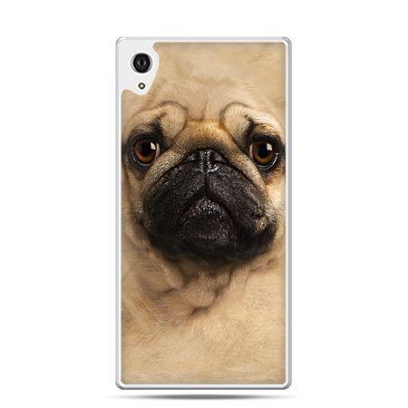 Etui na telefon Sony Xperia XA - pies szczeniak Face 3d