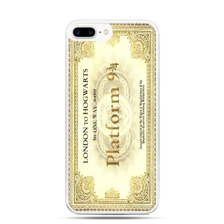 Etui na telefon iPhone 7 Plus - bilet platform 9 3/4 Harry Potter