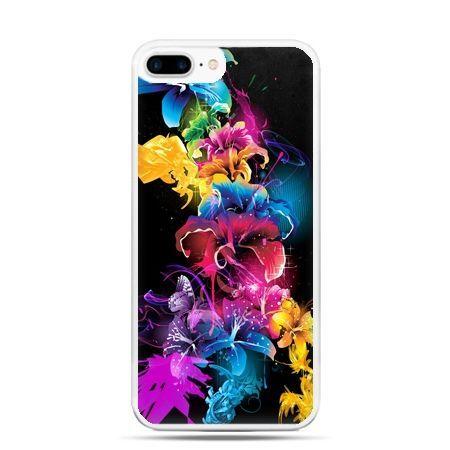Etui na telefon iPhone 7 Plus - kolorowe kwiaty