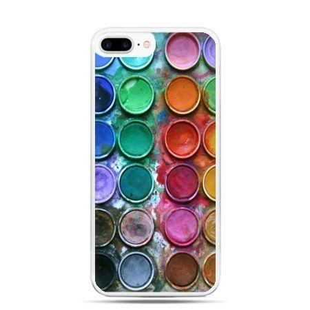 Etui na telefon iPhone 7 Plus - kolorowe farbki