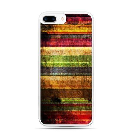 Etui na telefon iPhone 7 Plus - kolorowe deski
