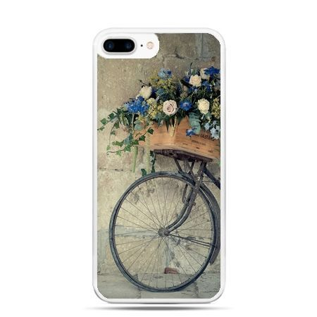 Etui na telefon iPhone 7 Plus - rower z kwiatami