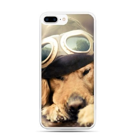 Etui na telefon iPhone 7 Plus - pies w okularach