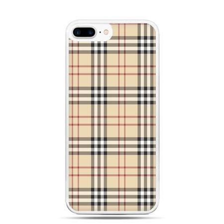 Etui na telefon iPhone 7 Plus - kratka Burberry