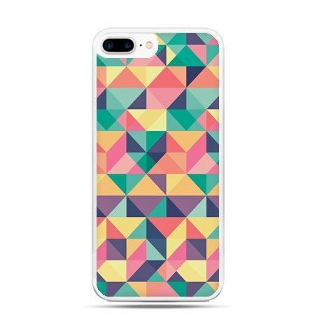 Etui na telefon iPhone 7 Plus - kolorowe trójkąty