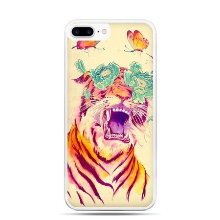 Etui na telefon iPhone 7 Plus - egzotyczny tygrys