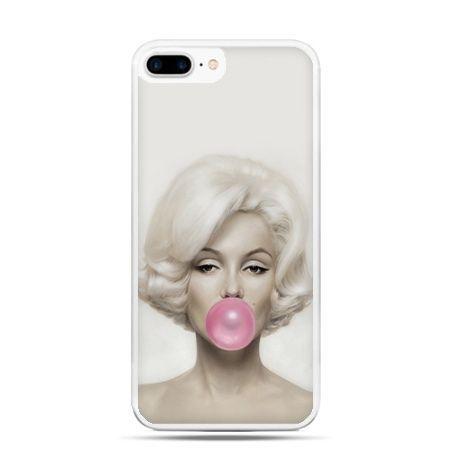 Etui na telefon iPhone 7 Plus - Monroe z gumą balonową