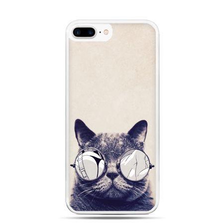 Etui na telefon iPhone 7 Plus - kot w okularach