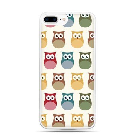 Etui na telefon iPhone 7 Plus - kolorowe sowy