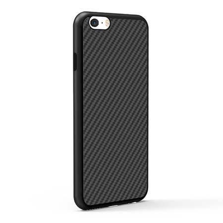 Etui na iPhone 5 / 5S gumowe Karbon - czarne