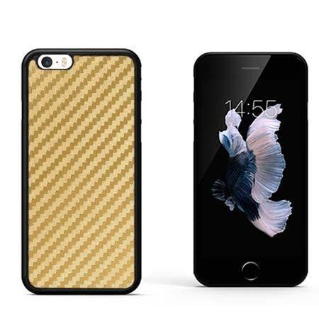 Etui na iPhone SE gumowe Karbon - złote.
