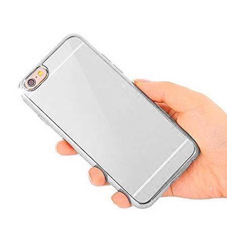 Etui na iPhone 5 / 5s platynowane FullSoft lustro - srebrne.