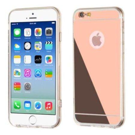 iPhone 6 / 6s lustro - etui lustrzane - mirror silikonowe TPU - Rose Gold.