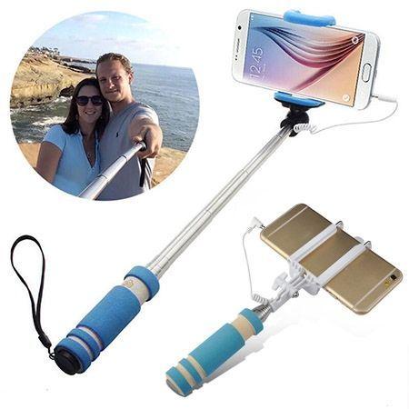 Mini Selfie monopod kieszonkowy kijek z kablem do Huawei P9 Lite.