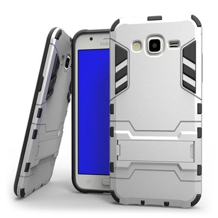 Pancerne etui na Galaxy Core Prime - srebrny.