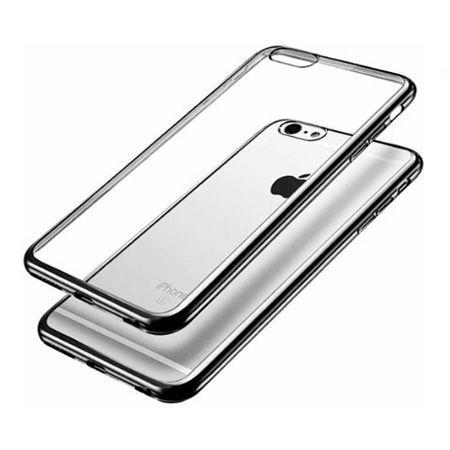 iPhone 6 Plus  silikonowe etui platynowane SLIM kolor (Gunmetal) - czarny.
