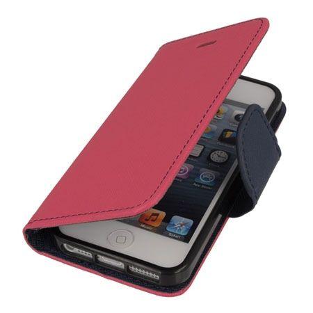 Etui na iPhone 5 / 5s Fancy Wallet - różowy. PROMOCJA!!!
