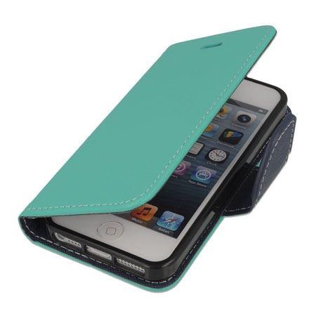 Etui na iPhone 5 / 5s Fancy Wallet - miętowy.
