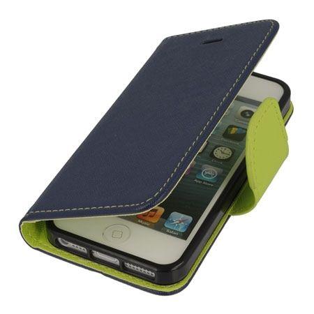 Etui na iPhone 5 / 5s Fancy Wallet - granatowy. PROMOCJA!!!
