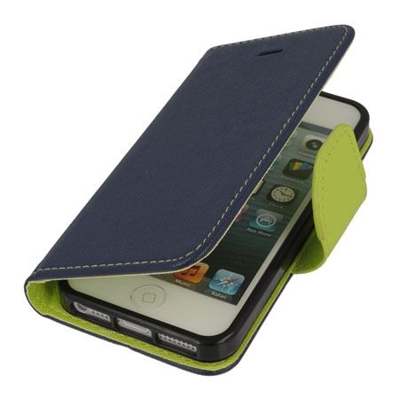Etui na iPhone 5 / 5s Fancy Wallet - granatowy.