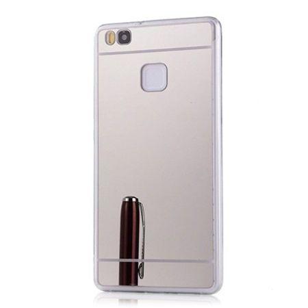 Etui na Huawei P9 Lite mirror - lustro silikonowe lustrzane TPU - srebrny.