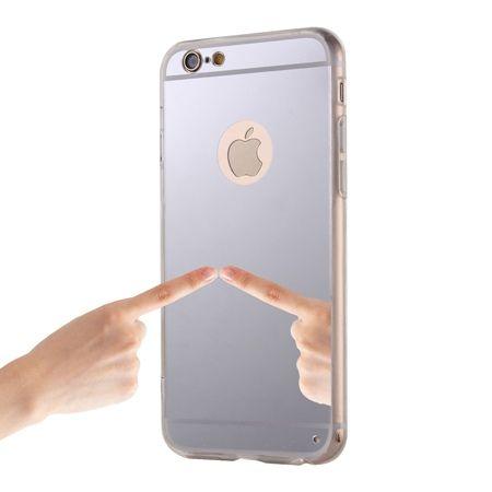 iPhone 6 Plus / 6s Plus lustro - etui lustrzane - mirror silikonowe TPU - srebrne.