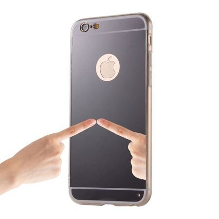 iPhone 6 Plus / 6s Plus lustro - etui lustrzane - mirror silikonowe TPU - czarne.