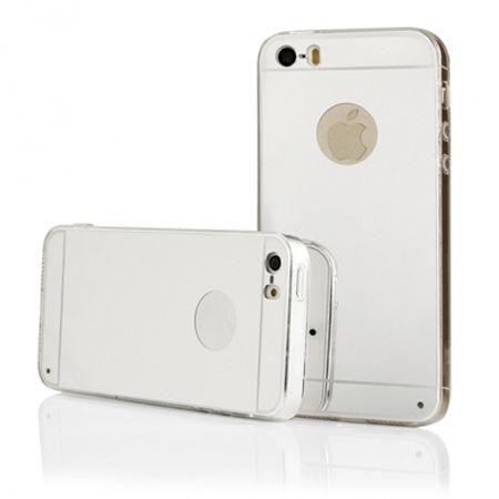 iPhone 4 / 4s lustro - mirror, silikonowe elastyczne TPU - srebrne.