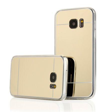 Galaxy S7 mirror - lustro silikonowe etui lustrzane TPU - złote.