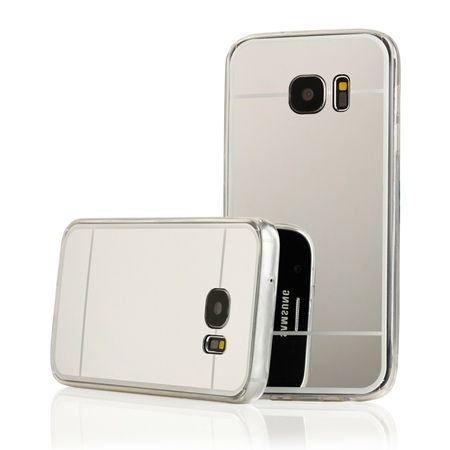 Galaxy S6 mirror - lustro silikonowe etui lustrzane TPU - srebrne.