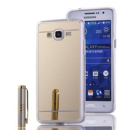 Galaxy Grand Prime mirror - lustro silikonowe etui lustrzane TPU - złoty.