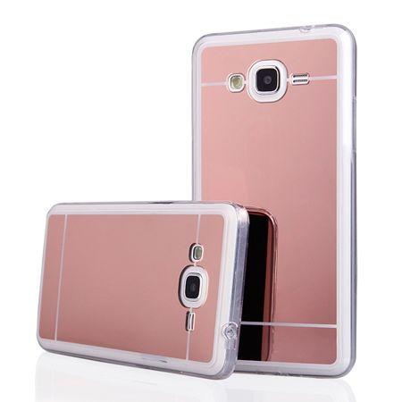 Galaxy J3 2016r mirror - lustro silikonowe etui lustrzane TPU - rose gold.