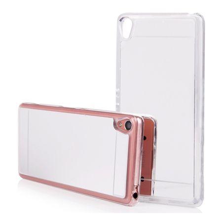 Xperia XA mirror - lustro silikonowe etui lustrzane TPU - srebrny.