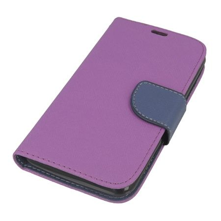 Etui na Xperia E4G Fancy Wallet - fioletowy.