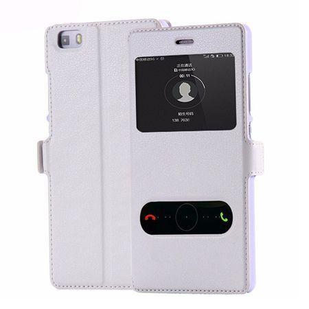 Huawei P8 Lite etui Flip Quick View z klapką dwa okienka - Białe.