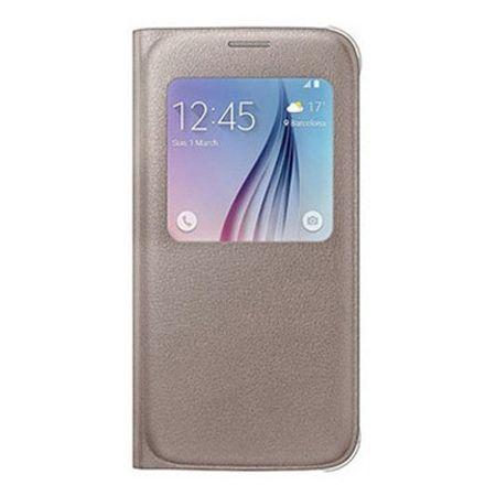 Galaxy Note 5 Flip S View z klapką złote.