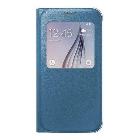 Galaxy Note 5 Flip S View z klapką niebieskie.