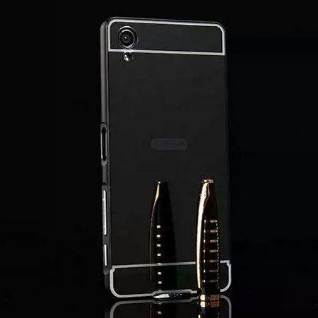 Mirror bumper case na Xperia X - Czarny
