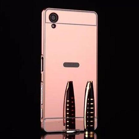 Mirror bumper case na Xperia X - Rose Gold