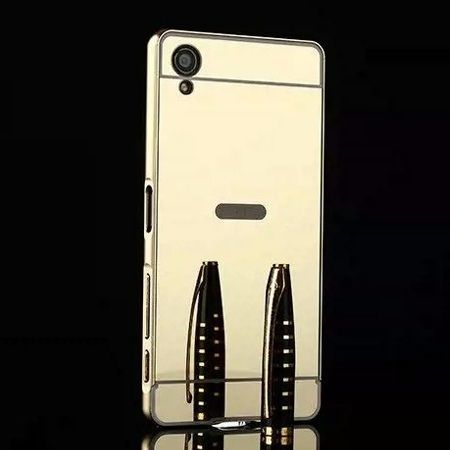 Mirror bumper case na Xperia X - Złoty