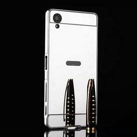 Mirror bumper case na Xperia X - Srebrny