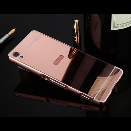 Mirror bumper case na Xperia XA - Rose Gold